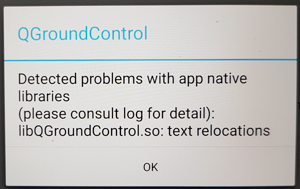 QGroundcontrol Error
